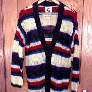 colorful striped urban cardigan <3